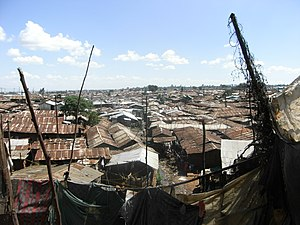 English: Kibera Slum in Nairobi Deutsch: Der S...