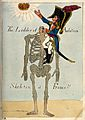 Napoléon climbing a headless skeleton trying to reach an una Wellcome V0011313.jpg