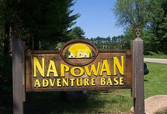 Scouting in Illinois - Camp Napowan entrance sign