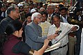 National awarded gopal prasad sharma with vice president hamid ali ansari.JPG
