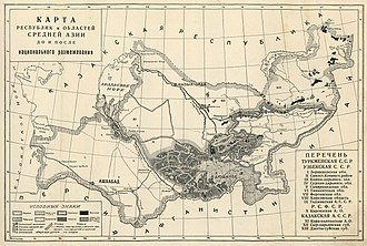 National delimitation in the Soviet Union - National delimitation in Central Asia