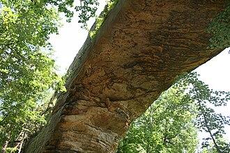 Natural Bridge State Resort Park - Image: Natural Bridge Below