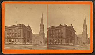 Boston Society of Natural History - Image: Natural History Museum and Central Church, by Alden, A. E., 1837