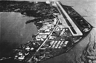 Danilo Atienza Air Base - Image: Naval Station Sangley Point, Philippines aerial view c 1963