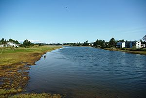 Necanicum River looking north at Seaside - Oregon.JPG