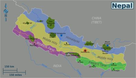 Cartina Dettagliata Del Nepal.Nepal Wikivoyage Guida Turistica Di Viaggio