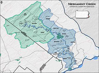 Neshaminy Creek - Map of the Neshaminy Creek