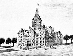 117th New York State Legislature - Image: New York State Capitol 1893
