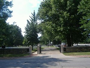 New Albany National Cemetery - Image: New Albany National Cemetery entrance