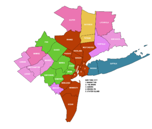 Monroe County, Pennsylvania - The New York-Newark, NY-NJ-CT-PA (CSA) and the included Pennsylvania Counties
