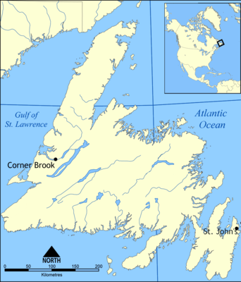 Location map Canada Newfoundland
