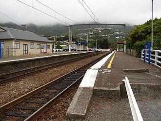 Ngaio railway station - Ngaio railway station, looking North (2008).