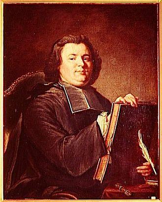 Nicolas-Sylvestre Bergier - Portrait of Nicolas-Sylvestre Bergier. Painting from Joseph Aved. Réunion des musées nationaux Grand Palais.