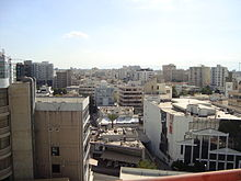 Nicosia View from 13th floor skyline.JPG