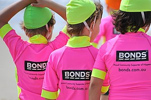 Pacific Brands - Bonds sponsors the Nippers surf lifesaving program