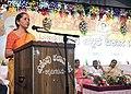 Nirmala Sitharaman addressing the gathering on the 3 years achievements of NDA Government, at the 'Sabka Saath Sabka Vikas' Sammelan, in Chikkamangaluru, Karnataka.jpg