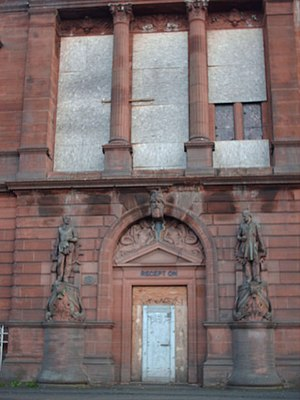 John Keppie - The imposing red sandstone offices of the Fairfield Shipbuilding and Engineering Company on Govan Road, which from 2013, will form the Fairfield Heritage Centre.