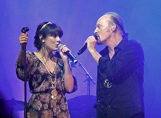 "Nolwenn Leroy - Leroy performing ""Brian Boru"" with Alan Stivell at the Paris Olympia in France on 16 February 2012"