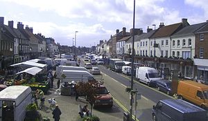 Northallerton - Northallerton High Street on market day