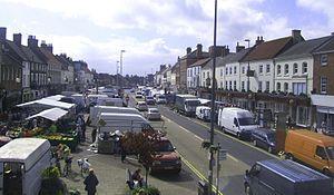 Northallerton - Northallerton High Street on market day