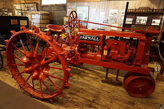 Farmall - A 1930s McCormick-Deering Farmall (F-14) at the Northeast Texas Rural Heritage Center and Museum in August 2015