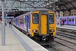 Northern Rail Class 156, 156482, platform 4, Liverpool Lime Street railway station (geograph 4499513).jpg