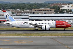 Norwegian Long Haul, EI-LNA, Boeing 787-8 Dreamliner (19994230519).jpg