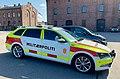 Norwegian military police vehicle at Fort Akershus, Oslo.jpg