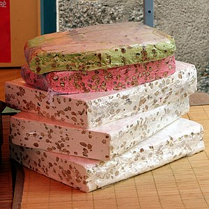English: Montelimar's Nougat. Photograph taken...
