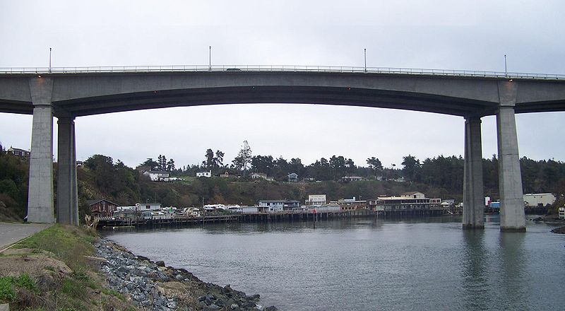 Scenic Noyo Bridge at Noyo Harbor, Fort Bragg, California