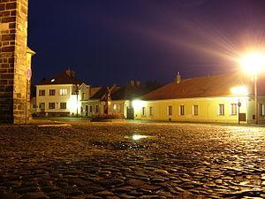 Nymburk - Image: Nymburk kostelni namesti