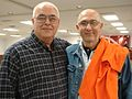 OH- Chuck Lucas and John Mirabile, LIUNA 310 members, before going out to walk in Cleveland (2994128408).jpg