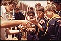 OPEN HOUSE AT HOPKINS MARINE INSTITUTE (STANFORD). BOY SCOUTS ARE TOUCHING STARFISH FOUND IN MONTEREY BAY - NARA - 543178.jpg
