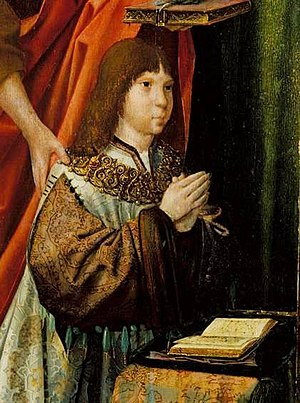 John III of Portugal - Detail of Prince John from the Triptych of the Infantes; Master of Lourinhã, 1516.