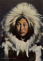 Obleka An Eskimo Glamour Girl in Native Costume, showing the Parka Hood (NBY 430985).jpg