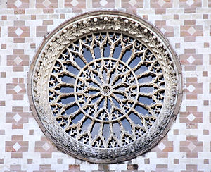 Santa Maria di Collemaggio - The central rose window.