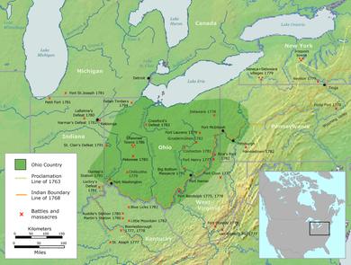 Map Of Ohio West Virginia And Pennsylvania.Ohio Country Wikipedia