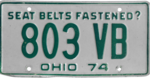 Ohio license plate, 1974.png