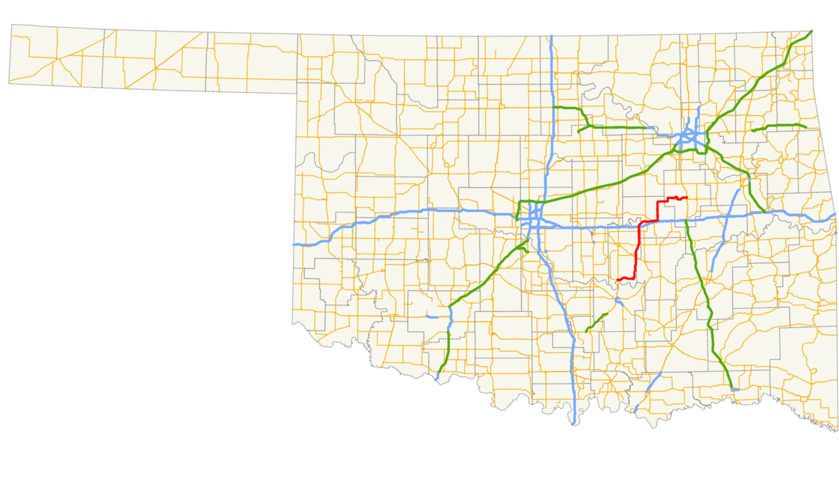 Oklahoma State Highway 56 Wikipedia - Map Of Eastern Us Highways
