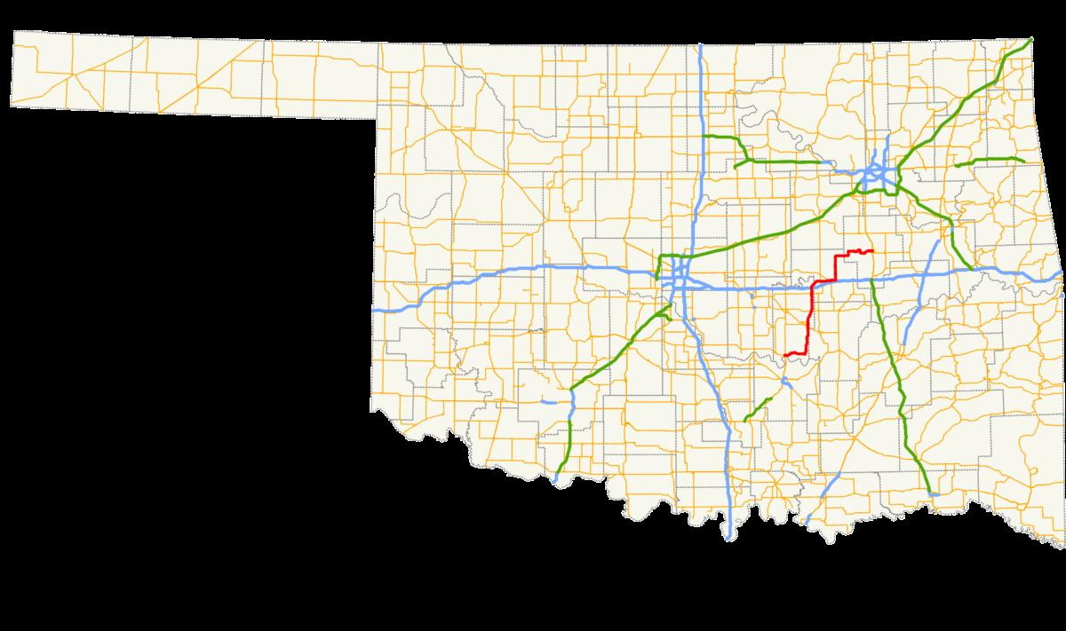 Oklahoma Highways Map, Oklahoma State Highway 56, Oklahoma Highways Map