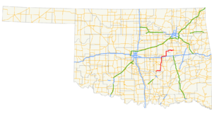 Oklahoma State Highway 56 - Image: Ok 56 path