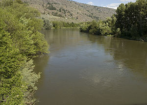 Okanogan River - Image: Okanogan River at Riverside WA