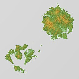 Oki Islands Relief Map, SRTM.jpg