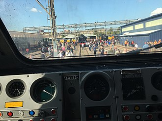 British Rail Class 43 (HST) - Driving cab of 43185.