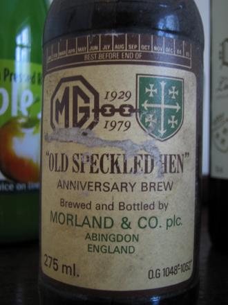 Old Speckled Hen - An original bottle of Old Speckled Hen