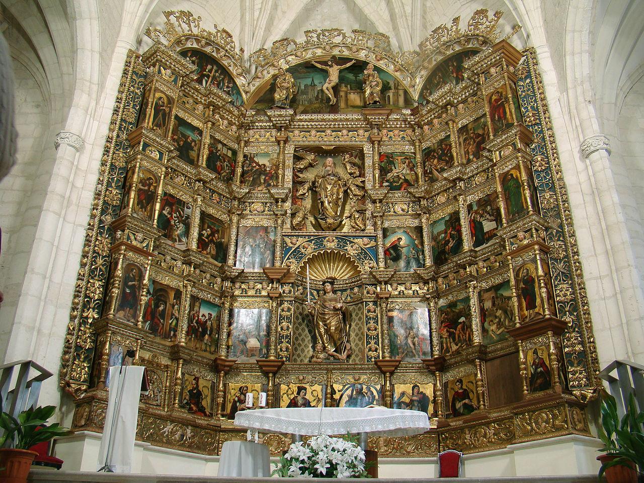 File olivares de duero iglesia san pelayo retablo mayor ni for Oficina pelayo valladolid