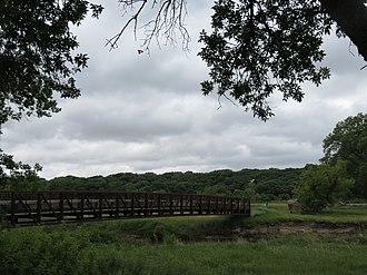 Olson Nature Preserve - Footbridge at Olson Nature Preserve