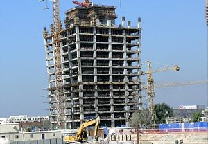 One Business Bay - One Business Bay under construction on 22 November 2007