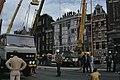 Ontruiming gekraakte flats Prins Hendrikkade Amsterdam door Mobiele Eenheid ho, Bestanddeelnr 253-8284.jpg