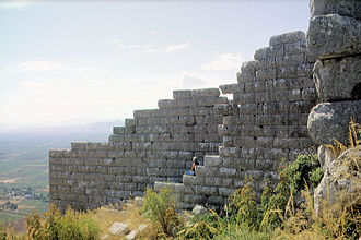Orchomenus (Boeotia) - City walls on the acropolis